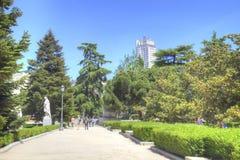 马德里 都市风景 Sabatini庭院 库存照片