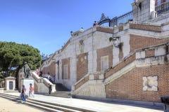 马德里 都市风景 Sabatini庭院 图库摄影