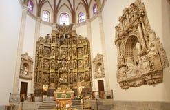 马德里-长老会的管辖区和卡皮亚del Obispo新生法坛  库存照片