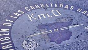 马德里Km.0 图库摄影