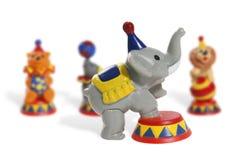 马戏五颜六色的玩具 免版税库存照片