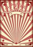 马戏减速火箭的海报 向量例证