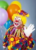 马戏团小丑你好通知 免版税库存照片