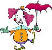 马戏团小丑动画片例证 免版税库存照片