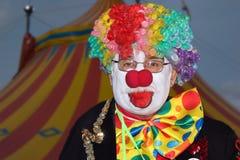 马戏团小丑滑稽的shriners 图库摄影