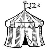 马戏场帐篷草图 免版税库存照片