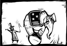 马戏大象 免版税库存图片