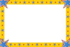 马戏星正方形框架 免版税库存照片