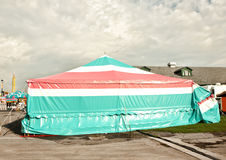 马戏样式帐篷 免版税图库摄影