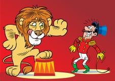 马戏狮子 免版税库存图片