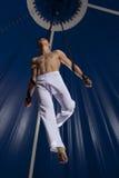 马戏空气体操运动员 免版税库存照片