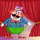 马戏阶段的小丑 免版税库存照片