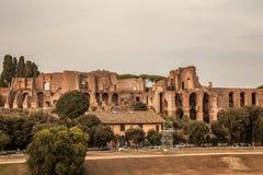 马戏马克西穆斯废墟在罗马,意大利 库存图片