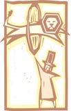 马戏驯狮者颜色 免版税库存图片