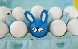 马戏 复活节的概念用逗人喜爱和快乐的手工制造鸡蛋 免版税图库摄影