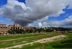 马戏Maximus和帕勒泰恩小山全景 图库摄影