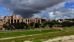 马戏Maximus和帕勒泰恩小山全景 免版税图库摄影