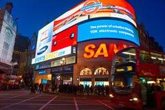 马戏piccadilly伦敦英国 免版税图库摄影