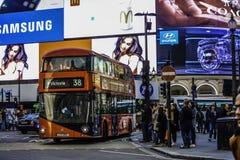 马戏piccadilly伦敦 免版税库存图片