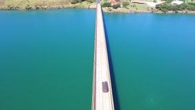 马托格罗索州国家边界空中英尺长度桥梁以圣保罗状态在巴西 2016年7月 影视素材