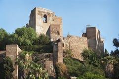 马拉加城堡。 图库摄影