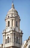马拉加大教堂。 图库摄影