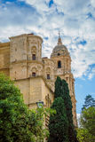 马拉加大教堂在安大路西亚,西班牙 库存照片