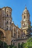 马拉加大教堂,西班牙 免版税图库摄影