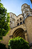马拉加大教堂 库存照片