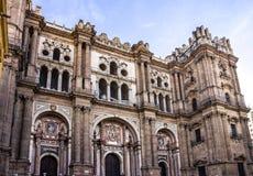 马拉加市视图,大教堂,西班牙 库存图片