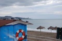 马拉加海滩, malagueta 图库摄影
