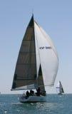马拉加种族西班牙游艇 免版税库存照片