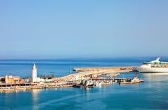 马拉加端口海运 免版税图库摄影
