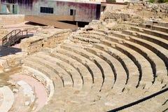 马拉加罗马剧院,西班牙 免版税库存图片