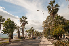 马拉加街道视图  免版税库存图片