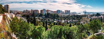 马拉加都市风景 免版税库存照片
