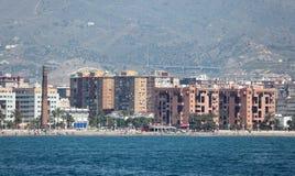 马拉加,西班牙地平线  库存照片