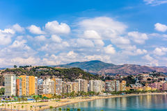 马拉加,西班牙海滩 库存图片
