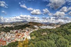 马拉加,西班牙看法  库存图片