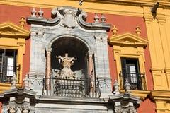 马拉加, ANDALUCIA/SPAIN - 2018年1月02日:巴洛克式的主教` s Pa 免版税库存图片