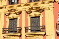 马拉加, ANDALUCIA/SPAIN - 2018年1月02日:巴洛克式的主教` s Pa 免版税图库摄影