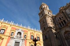 马拉加, ANDALUCIA/SPAIN - 2018年1月02日:巴洛克式的主教` s Pa 库存照片