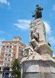 马拉加-曼纽尔多明戈Larios y马里亚诺(1836-1895)创造的Larios纪念品Benlliure (1899) 库存图片