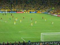 马拉卡纳体育场-巴西对西班牙-国际足联联合会杯足球赛2013年 库存照片