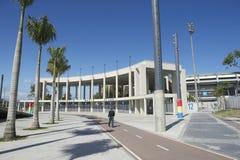 马拉卡纳橄榄球足球场里约巴西 库存照片
