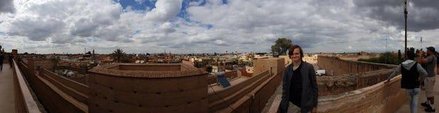 马拉喀什全景  库存图片