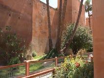 马拉喀什巴伊亚宫殿庭院在马拉喀什,摩洛哥 免版税库存照片