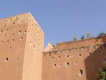 马拉喀什市墙壁 库存照片