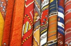 马拉喀什摩洛哥挂毯 库存图片