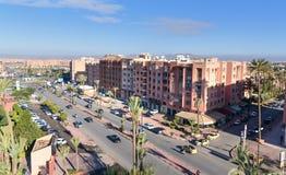马拉喀什看法  摩洛哥 免版税库存图片